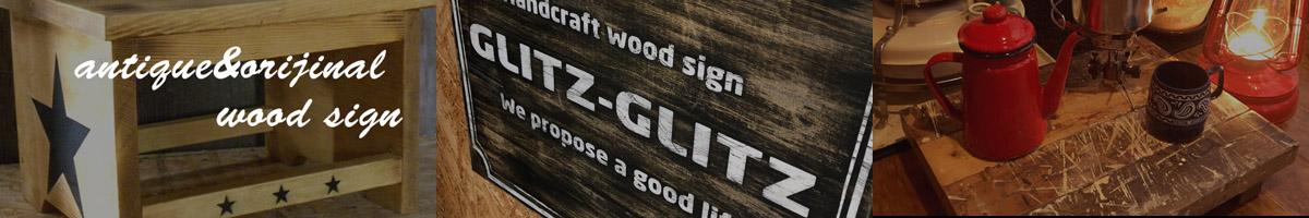 アンティーク看板、木製看板製作のGLITZ-GLITZ